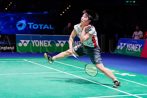 18th March 2018, Arena Birmingham, Birmingham, England; Yonex All England Open Badminton Championships; Akane Yamaguchi (JPN) in the womens singles the final against Tai Tzu Ying (TPE)
