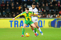 Harvey Barnes  of West Bromwich Albion battles with Cameron Carter-Vickers of Swansea City during the Sky Bet Championship match between Swansea City and West Bromwich Albion at the Liberty Stadium in Swansea, Wales, UK. Wednesday 28 November 2018