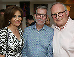 Dana Tyler, Sam Rudy and Adrian Bryan-Brown attend the Retirement Celebration for Sam Rudy at Rosie's Theater Kids on July 17, 2019 in New York City.