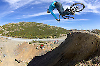 Gee Atherton..Alpujarra region , Spain , April 2007..pic copyright Steve Behr / Stockfile