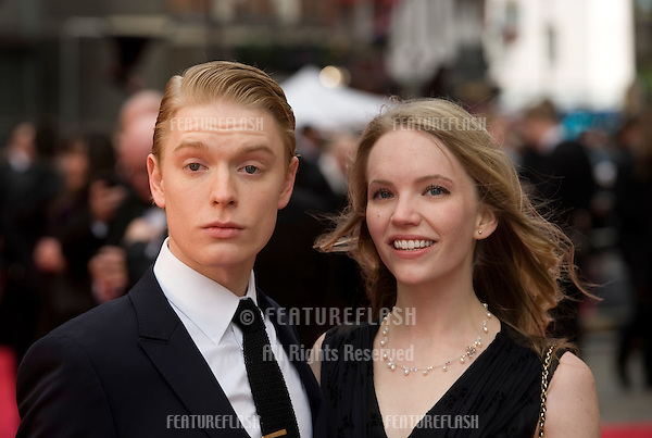 Freddie Fox and Tamsin Merchant arrives for the Olivier Awards 2012 at the Royal Opera House, Covent Garden, London. 15/04/2012 Picture by: Simon Burchell / Featureflash