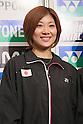 Reiko Shiota (JPN), September 20, 2011 - Badminton : Reiko Shiota attends press conference in Tokyo, Japan, regarding the Yonex poen Japan 2011 Badminton Championships 2011. (Photo by Yusuke Nakanishi/AFLO SPORT) [1090]