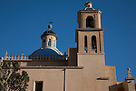 Dome and Tower of St Nicholas Cathedral Church in Alicante, Spain