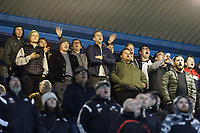 Swansea supporters during the Sky Bet Championship match between Sheffield Wednesday and Swansea City at Hillsborough Stadium, Sheffield, England, UK. Saturday 09 November 2019