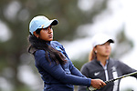 CHAPEL HILL, NC - OCTOBER 15: North Carolina's Roshnee Sharma on the 2nd tee. The third and final round of the Ruth's Chris Tar Heel Invitational Women's Golf Tournament was held on October 15, 2017, at the UNC Finley Golf Course in Chapel Hill, NC.
