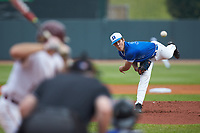 Duke Blue Devils starting pitcher Adam Laskey (33) delivers a pitch to the plate against the Florida State Seminoles in the first semifinal of the 2017 ACC Baseball Championship at Louisville Slugger Field on May 27, 2017 in Louisville, Kentucky. The Seminoles defeated the Blue Devils 5-1. (Brian Westerholt/Four Seam Images)