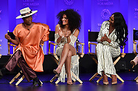 "HOLLYWOOD, CA - MARCH 23: Billy Porter, Indya Moore and Dominique Jackson at PaleyFest 2019 for FX's ""Pose"" panel at the Dolby Theatre on March 23, 2019 in Hollywood, California. (Photo by Vince Bucci/FX/PictureGroup)"