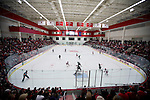 A general view of LaBahn Arena during the Wisconsin Badgers opening night against the Bemidji State Beavers Friday, October 19, 2012 in Madison, Wis. (Photo by David Stluka)