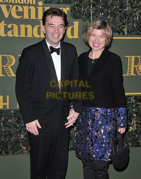 Edward Hall &amp; Issy Van Randwyck attend the London Evening Standard Theatre Awards 2015, The Old Vic, The Cut, London, England, UK, on Sunday 22 November 2015.<br /> CAP/CAN<br /> &copy;CAN/Capital Pictures