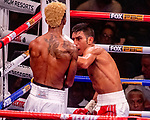 NOV 23 2019 Las Vegas Nevada: Leduan Barthelemy, (White trunks) 127lbs  Guantanamo, CUB vs Eduardo Ramirez, (Green white trunks) 126lbs  Los Mochis, MEX Featherweights 10 rounds