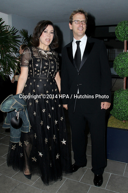 LOS ANGELES - SEP 12:  Phil Laak, Jennifer Tilly at the Mercy For Animals 15th Anniversary Gala  at London Hotel on September 12, 2014 in West Hollywood, CA