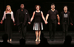 Emily Skinner, Chuck Cooper, Karen Ziemba, Tony Yazbeck, Brandon Uranowitz during the Broadway Opening Night performance Curtain Call for 'The Prince of Broadway' at the Samuel J. Friedman Theatre on August 24, 2017 in New York City.