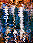 """Navajo Seeps"", water reflection and abstract pattern"