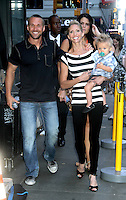 NEW YORK, NY - AUGUST 13, 2012:  Chris Powell, with his wife Heidi and son William Cash at Good Morning America to talk about Extreme Makeover:Weight Loss Edition in New York City  :© RW/MediaPunch Inc.