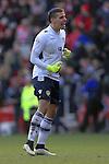 Marco Silvestri of Leeds celebrates victory - Middlesbrough vs. Leeds United - Skybet Championship - Riverside Stadium - Middlesbrough - 21/02/2015 Pic Philip Oldham/Sportimage