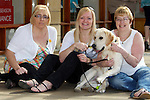 Pix: Shaun Flannery/shaunflanneryphotography.com...COPYRIGHT PICTURE>>SHAUN FLANNERY>01302-570814>>07778315553>>..9th April 2011...............Lakeside Village, Doncaster..Guide Dog puppy, Parky pictured with L-R Leanne Parkhouse, Amanda Parkhouse, Sharon Parkhouse who named the dog.