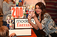 LOS ANGELES - NOVEMBER 15: Sarah Hyland celebrate Modern Family's 200th episode at the Fox Studio Lot on November 15, 2017 in Los Angeles, California. The cake was created by The Butter End. (Photo by Frank Micelotta/Fox/PictureGroup)