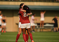 Stanford, Ca - September 1, 2017.  The Stanford Cardinal defeats the Georgetown Hoyas 4-0 at Maloney Field in the Laird Q. Cagan Stadium on the campus of Stanford University.