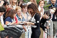 SAN SEBASTIAN, ESPANHA, 25 SETEMBRO 2012 - FESTIVAL DE CINEMA DE SAN SEBASTIAN - <br /> A atriz Penelope Cruz chega ao Hotel Maria Cristina  durante a 60&ordf; edi&ccedil;&atilde;o do Festival de Cinema de San Sebastian, na Espanha, nesta ter&ccedil;a-feira, 25. (FOTO: ALFAQUI / BRAZIL PHOTO PRESS).