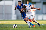 SC Kitchee Defender Kin Man Tong (L) fights for the ball with Ka Chun Li of Dreams FC (R) during the week two Premier League match between Kitchee and Dreams FC at on September 10, 2017 in Hong Kong, China. Photo by Marcio Rodrigo Machado / Power Sport Images