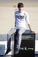 """Actor Francesc Colomer posses in the photocall of the """"Vivir es facil con los ojos cerrados"""" film presentation during the 61 San Sebastian Film Festival, in San Sebastian, Spain. September 24, 2013. (ALTERPHOTOS/Victor Blanco) /NortePhoto /Nortephoto"""
