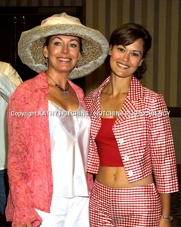 ©2003 KATHY HUTCHINS / HUTCHINS PHOTO.BOLD AND THE BEAUTIFUL FAN LUNCHEON.UNIVERSAL SHERATON HOTEL.UNIVERSAL CITY, CA.AUGUST 16, 2003..LESLEY ANNE DOWN.SYDNEY PENNY