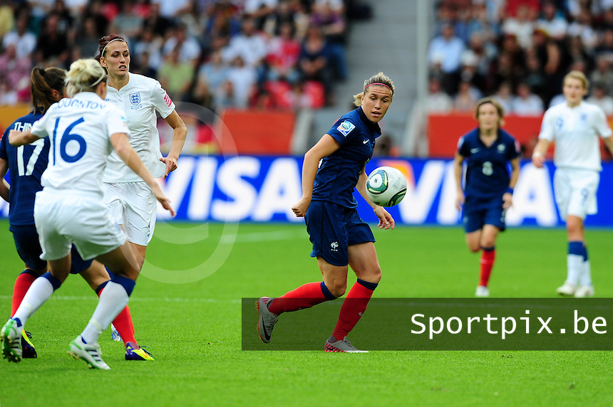 Fifa Women's World Cup Germany 2011 : England - France - at Leverkusen : Camille Abily.foto DAVID CATRY / Vrouwenteam.be