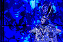"""EMBARGOED UNTIL 23:00 FRIDAY 18 OCTOBER 2019: English National Opera presents """"The Mask of Orpheus"""", by Sir Harrison Birthwhistle, libretto by Peter Zinovieff, at the London Coliseum, in its first London restaging in the 30 years since its premiere, coinciding with the celebration of Sir Harrison's 85th birthday. Directed by Daniel Kramer, with lighting design by Peter Mumford, set design by Lizzie Clachan and costume design by Daniel Lismore. Picture shows: Claron McFadden (The Oracle of the Dead)"""
