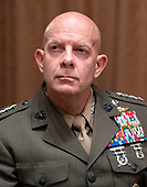 United States Marine Corps General David H. Berger, Commandant of the US Marine Corps, participates in a briefing with US President Donald J. Trump and senior military leaders in the Cabinet Room of the White House in Washington, DC on Monday, October 7, 2019.<br /> Credit: Ron Sachs / Pool via CNP