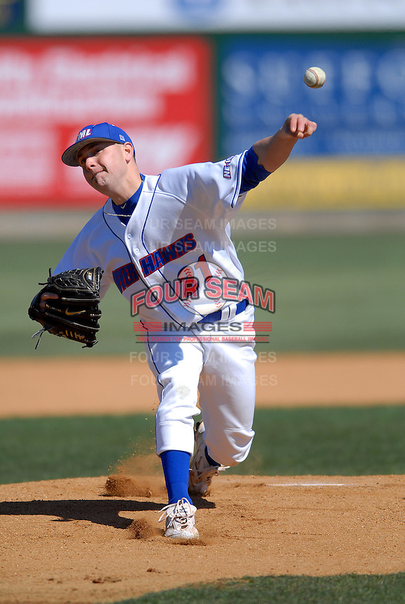 University of Massachusetts Lowell River Hawks starting pitcher Jack Leathersich  during a game vs.University of New Haven Chargers at LeLacheur Park in Lowell, Massachusetts on March, 26, 2011.UMass Lowell defeated New Haven by a score of 5-1.      Photo By Ken Babbitt/Four Seam Images