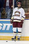 Tim Filangieri (Boston College - Islip Terrace, NY) warmups up before the 2007 NCAA Northeast Regional Final on Sunday, March 25, 2007 at the Verizon Wireless Arena in Manchester, New Hampshire.