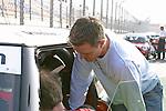 DTM 2004 - EuroSpeedway Lausitz<br />   Cora Schumacher, die Frau von Formel 1 Pilot Ralf Schumacher startet in der MINI Challenge 2004 und bekommt von Ralf letzte Tipps vor dem Start<br /> Foto © nordphoto / Sabine Lutzmann<br /> *** Local Caption *** Foto ist honorarpflichtig! zzgl. gesetzl. MwSt. Belegexemplar erforderlich Adresse: nordphoto Georg-Reinke-Strasse 1 49377 Vechta