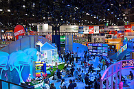 Overhead shot of the show floor at the Licensing International Expo