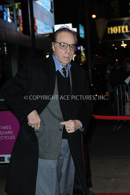 WWW.ACEPIXS.COM <br /> January 6, 2014 New York City<br /> <br /> Peter Bogdanovich attends the 2013 New York Film Critics Circle Awards Ceremony at The Edison Ballroom on January 6, 2014 in New York City. <br /> <br /> <br /> Please byline: Kristin Callahan  <br /> <br /> ACEPIXS.COM<br /> Ace Pictures, Inc<br /> tel: (212) 243 8787 or (646) 769 0430<br /> e-mail: info@acepixs.com<br /> web: http://www.acepixs.com
