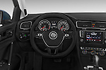 Car pictures of steering wheel view of a 2014 Volkswagen Golf SEL 5 Door Hatchback