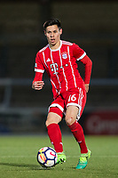 Raphael Obermair of Bayern Munich II during the Premier League International Cup match between Reading U23 and Bayern Munich II at the Adams Park, Wycombe, England on 8 December 2017. Photo by Andy Rowland.