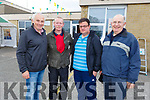 Tadgh Sullivan, Pat Murphy, Tommy Long and Christy Hanafin attending the cycle in the Ardfert NS on Sunday morning.