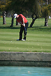 Kenneth Ferrie (ENG) chips onto the 3rd green during the Final Day Sunday of the Open de Andalucia de Golf at Parador Golf Club Malaga 27th March 2011. (Photo Eoin Clarke/Golffile 2011)
