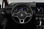 Car pictures of steering wheel view of a 2020 Renault Clio Edition One 5 Door Hatchback