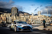 26th January 2020, Monaco, Monte Carlo;  FOURMAUX Adrien (FRA), JAMOUL Renaud (FRA), Ford Fiesta R5 MkII, M-Sport Ford WRT WRC 2 during the finish to the 2020 WRC World Rally Car Championship, Monte Carlo rally on January 26th 2020 at Monaco