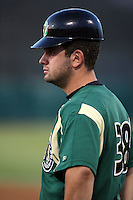 August 15 2008:  Anthony Capra of the Kane County Cougars, Class-A affiliate of the Oakland Athletics, during a game at Philip B. Elfstrom Stadium in Geneva, IL.  Photo by:  Mike Janes/Four Seam Images