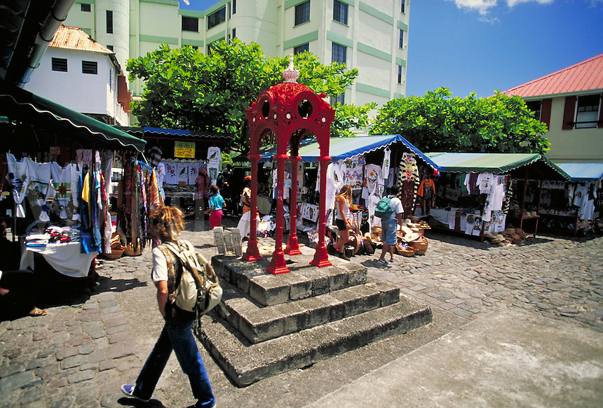 The Old Market, Roseau, island of Dominica , West Indies. Roseau, Dominica West Indies.