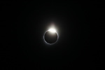 Total solar eclipse of the sun as seen from Casper Wy.