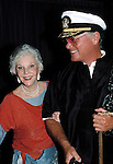 Larry Hagman & mother Mary Martin  ( DALLAS ).attending a Broadway show in New York City. August 1988