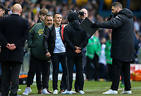 Leeds boxer Josh Warrington appears inside Elland Road at half time, to promote his upcoming fight against Kid Galahad<br /> <br /> Photographer Alex Dodd/CameraSport<br /> <br /> The EFL Sky Bet Championship - Leeds United v Sheffield Wednesday - Saturday 13th April 2019 - Elland Road - Leeds<br /> <br /> World Copyright © 2019 CameraSport. All rights reserved. 43 Linden Ave. Countesthorpe. Leicester. England. LE8 5PG - Tel: +44 (0) 116 277 4147 - admin@camerasport.com - www.camerasport.com