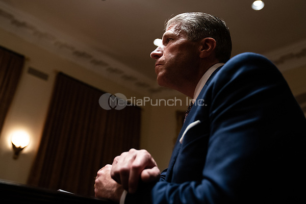 Patrick Lynch, President of the Police Benevolent Association of the City of New York, speaks during a meeting between President Donald Trump and members of the National Association of Police Organizations Leadership in the Cabinet Room of the White House in Washington, DC, on July 31st, 2020.<br /> Credit: Anna Moneymaker / Pool via CNP /MediaPunch