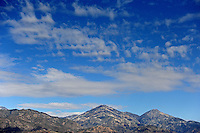 clouds mountain Mount Baldy Pomona California clouds hills sky winter mountains weather
