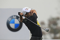Felipe Aguilar (CHI) tees off the 2nd tee during Thursday's Round 1 of the 2014 BMW Masters held at Lake Malaren, Shanghai, China 30th October 2014.<br /> Picture: Eoin Clarke www.golffile.ie
