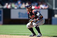 15 March 2009: #8 Akinori Iwamura of Japan is seen at second base during the 2009 World Baseball Classic Pool 1 game 1 at Petco Park in San Diego, California, USA. Japan wins 6-0 over Cuba.