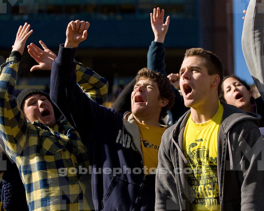 University of Michigan football 3OT 67-65 victory over Illinois at Michigan Stadium in Ann Arbor, MI, on November 6, 2010.